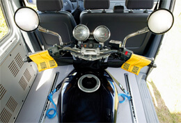 Motorradverzurrung über den Lenker