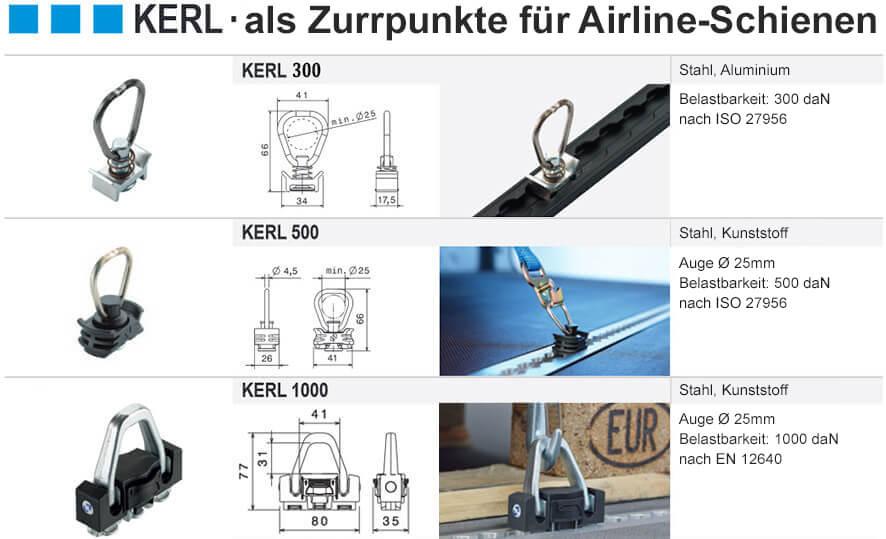 Kerl Airline-Schienen